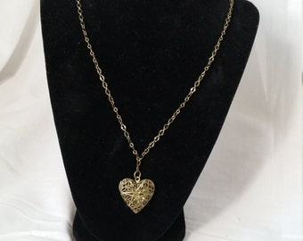 Brass  heart locket