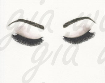 Museum Quality Print of Watercolor Lashes