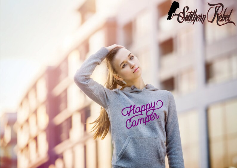 Happy Camper Fashion Teenager Boys /& Girls Unisex Sweater Keep Warm