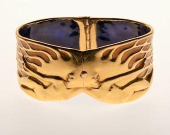 Twilight in 18Kt and enamel. A bracelet for a lifetime.
