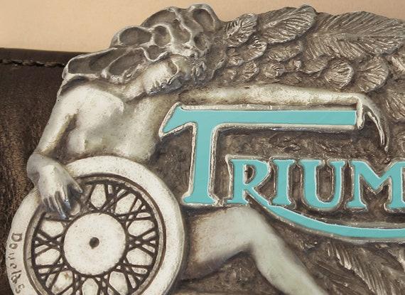 TRIUMPH MOTORCYCLE BELT BUCKLES