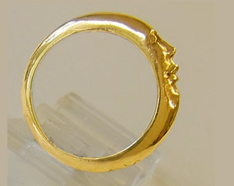 New Moon ring. This moon wedding ring is about a new beginning