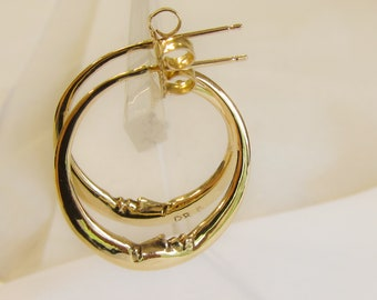 Crescent Moon earrings. For a new day with the face looking skyward.
