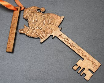 Personalised Santa House Key