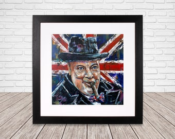 Winston Churchill - Fine Art - Wall Art - Digital print from Oil Painting