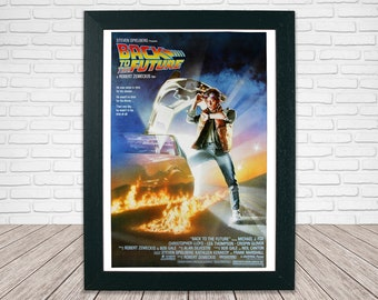 Back to the Future Movie Poster - Classic 80's Vintage Wall Film Art Print Photo Frame