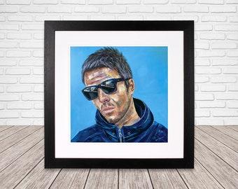 Liam Gallagher wall art - Oasis - Fine Art - Wall Art - Oasis painting -  Liam Gallagher wall art - Noel Gallagher wall art - Oasis print