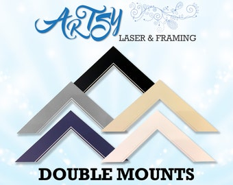 Made To Measure Double Mounts IMPORTANT- The sizing range is height and width of outer added together