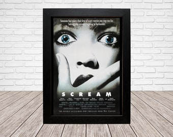 Scream Movie Poster - Classic 90's Vintage Wall Film Art - A4 or A3 Framed ready to hang