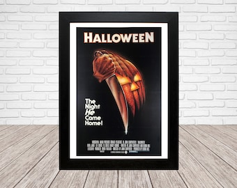 Halloween Movie Poster - Classic 70's Vintage Wall Film Art - A4 or A3 Framed ready to hang