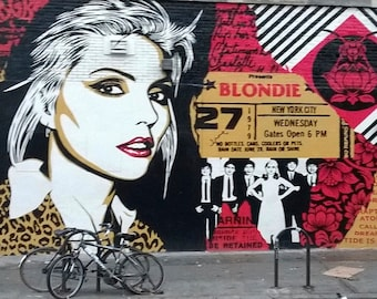 """Happy Birthday Greeting Card, Blondie, east village, from """"Views From The Street"""" Collection"""