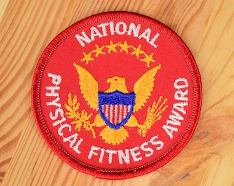 National Physical Fitness Award 1980s Vintage Patch / Size 3""