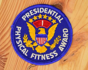 Presidential Physical Fitness Award Vintage 1980s Patch / Size 3""