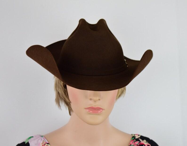 Vintage John Stetson Hat 4x Beaver Cowboy Cowgirl Hat  7c815edb8380