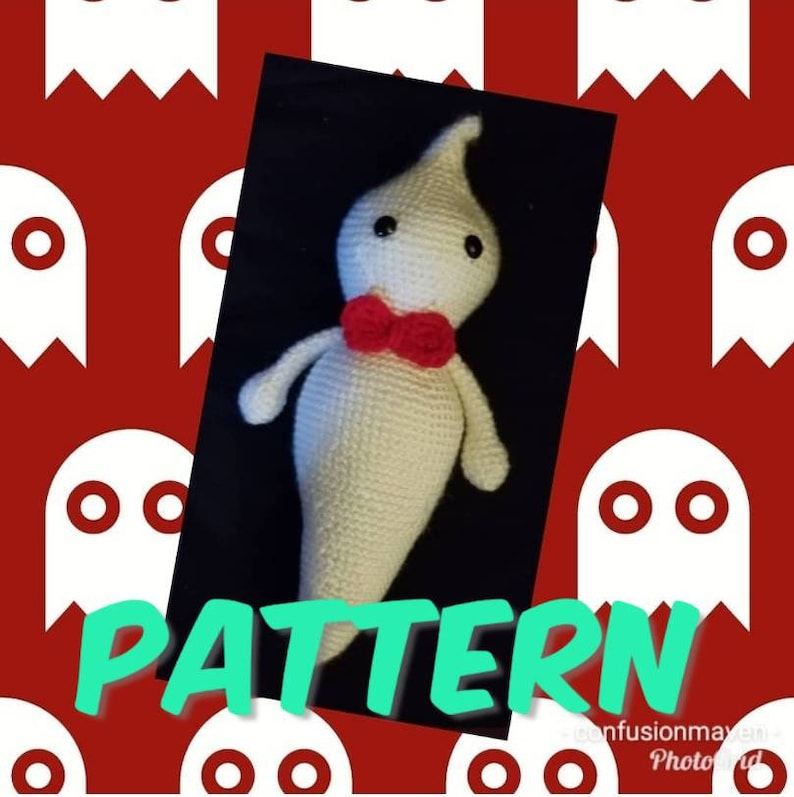 Crochet Pattern  Ghost beginner Halloween image 0