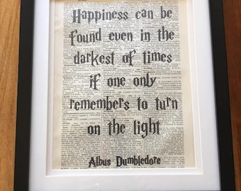 Harry Potter Dumbledore Quote Picture