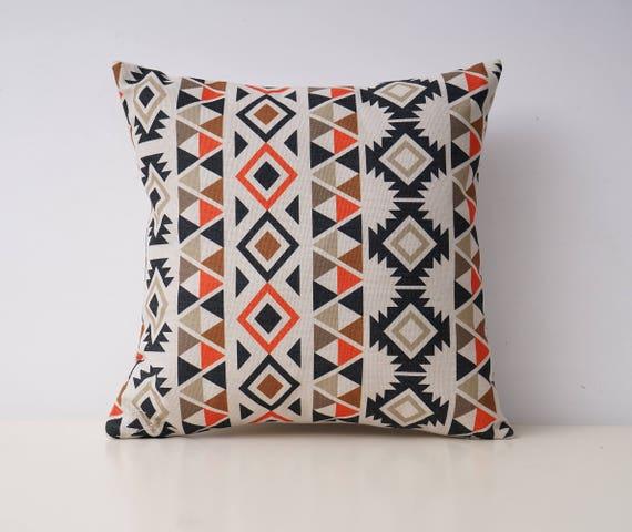 Aztec Decorative Pillow Cover Ethnic Throw Pillow Covers Etsy Impressive Throw Pillow Covers Etsy