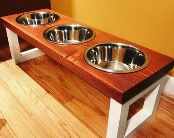 Wooden Pet Food Stand - Dog Food Bowl - Cat Food Bowl - Cat Food Stand - Feeding Station - Cat Food Stand - Pet Food Stand - Food Bowl Stand