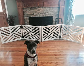 geometric pet gate christmas tree barrier made to fit room divider wooden security gate modern baby security gate - Baby Gate For Christmas Tree