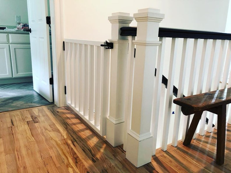 Modern Style Pet Or Baby Gate  Made To Fit  Pet Security image 0