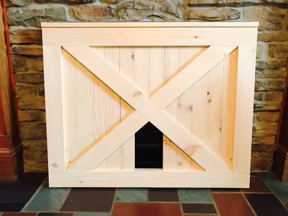 Barn Door Baby Gate Cat Door Pet Security Gate Modern Etsy