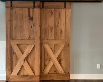 Barn Doors- Any Size - Hardware And Header Included - Sliding Barn Doors - Rustic Barn Style Doors - Interior Barn Doors - Barn Door Gate