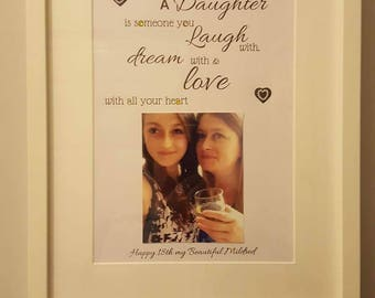 Personalised Framed Birthday Gift