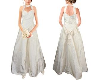 EDEL Pure silk fairytale wedding dress wedding dress champagne size 38 kl.40