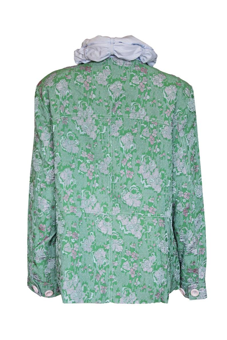 Elegant Feminine Layer look Vintage Jacket Transitional Jacket Raffible Collar NEW Size