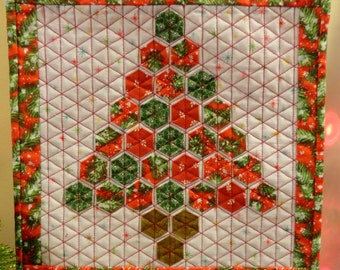 """Holiday Hexies 12 1/2"""" X 12 1/2"""" Mini Quilt"""