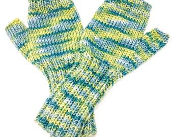 Merino wool fingerless gloves, knitted wrist warmers, knitted gloves