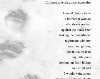 If I Were to Write as Someone Else