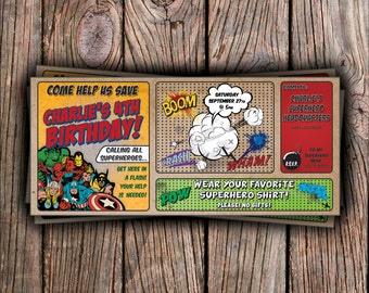 Super Hero Birthday Invitation