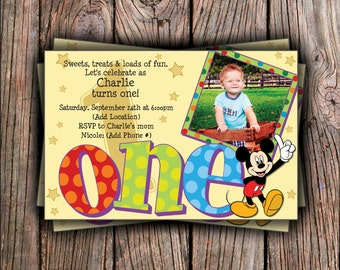 Mickey Birthday Invitation