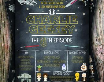 Star Wars Stat Chalkboard