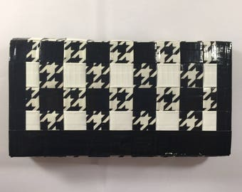 Cash Envelope System: Woven Wallet and Envelopes - Black, White, and B&W Houndstooth