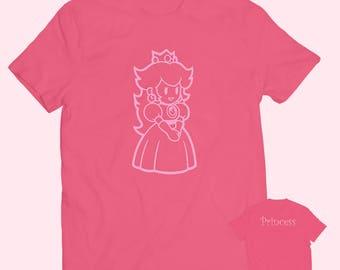 1c77de86aae4 Princess Peach Mario Brothers Adult T-shirt