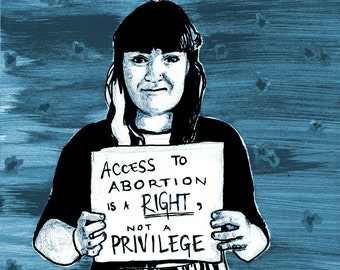 Access to abortion is a right - Postcard (5x7in)