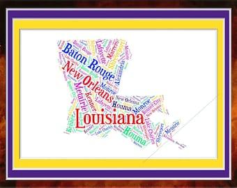 Louisiana Word Art