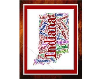 Indiana Word Art