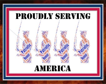Proudly Serving America Artwork