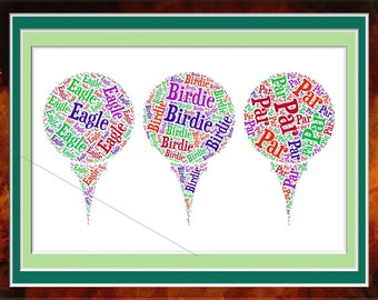 Three Tees for Golf Word Cloud