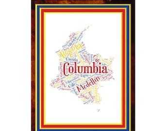 Columbia Word Art