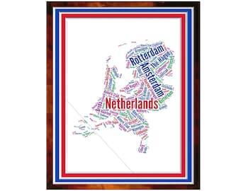 The Netherlands Word Art