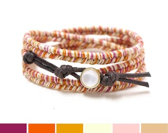 Fall Jewelry Trends, Festival Boho Bracelet, Autumn Jewelry Trends, Fall Colors Jewelry, Fall Bracelet, Autumn Bracelet, Fall Accessories