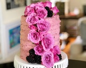 Fresh Custom Cake 6 2 4 Layers Birthday Bridal Shower Baby Flowers Decorations Buttercream Frosting