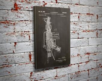AR-15 Patent Canvas Print Wall Art - Home Decor