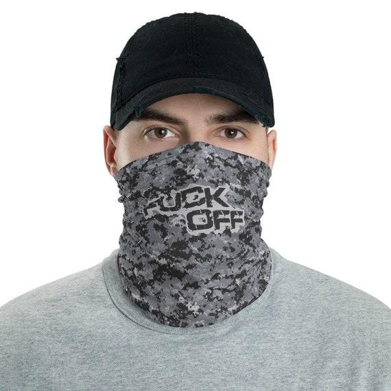 Men's Fuck Off Face Mask Funny Face Mask Neck Gaiter   Etsy
