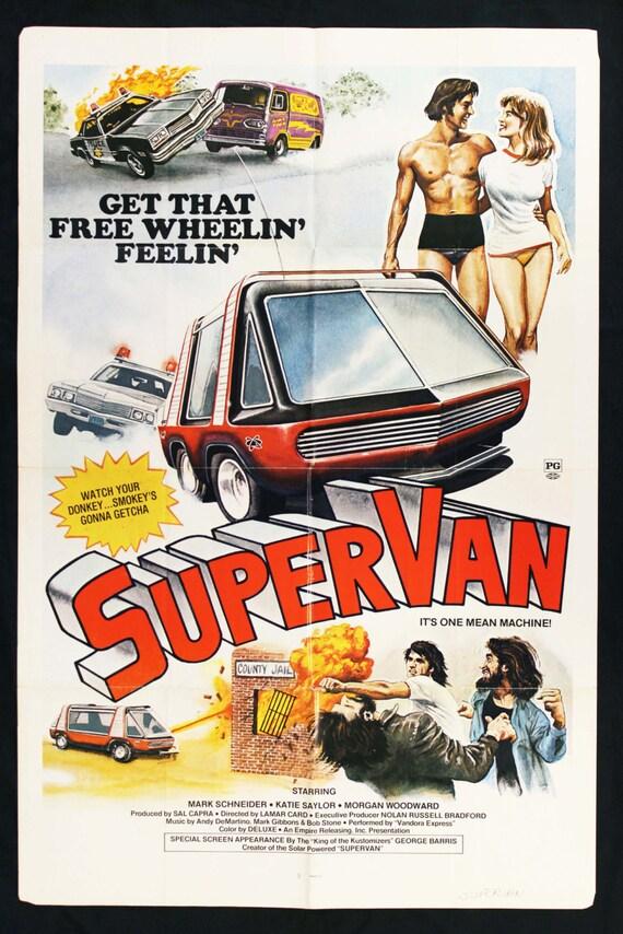 Retro Movie Poster 70's Supervan! Vintage Old