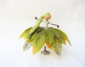 Handmade Fairy Doll, Ornament Doll, Nature Fairy Doll, Tree Fairy Doll, Green Fairy Doll, Fairy Gift, Tree decorarion